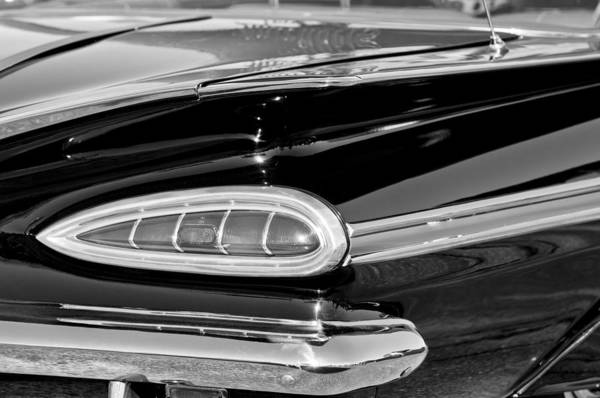 Photograph - 1959 Chevrolet Impala Tail Light by Jill Reger