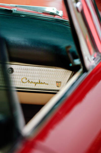 Photograph - 1959 Chrysler 300 Dashboard Emblem by Jill Reger