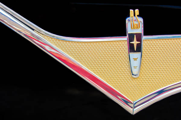 Auto Show Photograph - 1959 Desoto Adventurer Emblem by Jill Reger