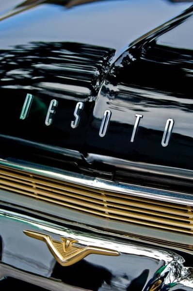Auto Show Photograph - 1959 Desoto Adventurer Hood Emblem by Jill Reger