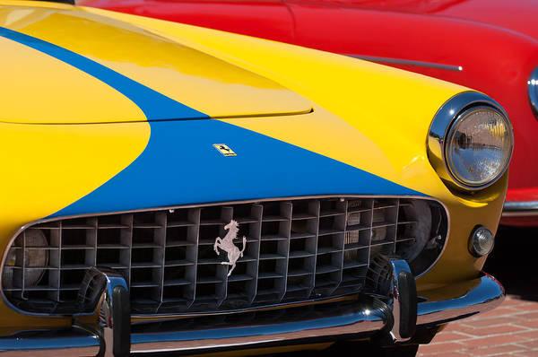 Photograph - 1959 Ferrari 250 Gt Coupe Grille Emblems by Jill Reger