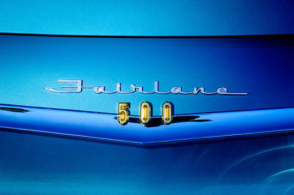 Ford Fairlane Photograph - 1959 Ford Fairlane 500 Emblem by Jill Reger