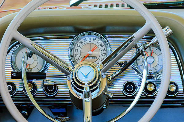 Photograph - 1959 Ford Thunderbird Convertible Steering Wheel by Jill Reger