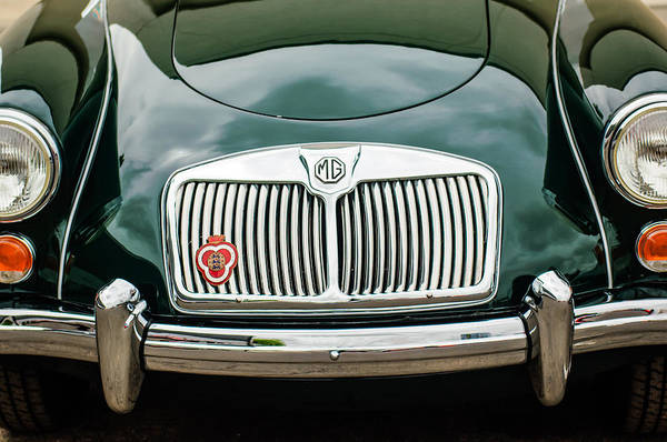 Mg Photograph - 1959 Mg A 1600 Roadster Front End -0055c by Jill Reger