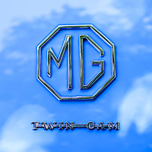 Mg Photograph - 1959 Mg A Twin-cam Coupe Emblem by Jill Reger