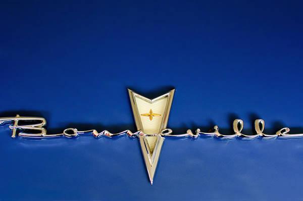 Hoodie Photograph - 1959 Pontiac Bonneville Emblem by Jill Reger