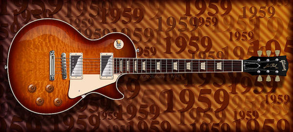 Rock Music Jimmy Page Wall Art - Digital Art - 1959 by WB Johnston