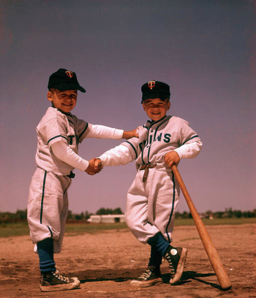 Wall Art - Photograph - 1960 1960s Boys Playing Baseball by Vintage Images