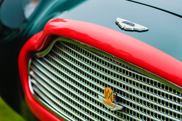 Photograph - 1960 Aston Martin Db4 Gt Coupe' Grille Emblem by Jill Reger