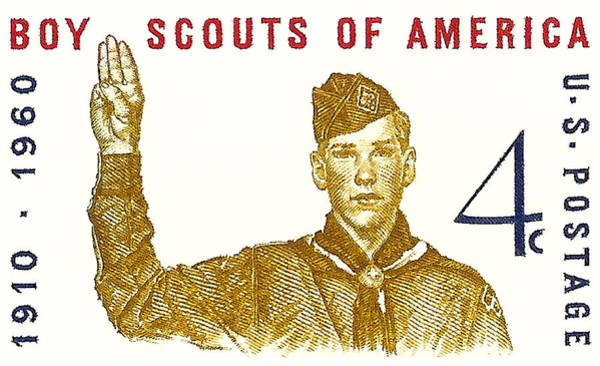 United States Postal Service Photograph - 1960 Boy Scouts Of America Postage Stamp by David Patterson