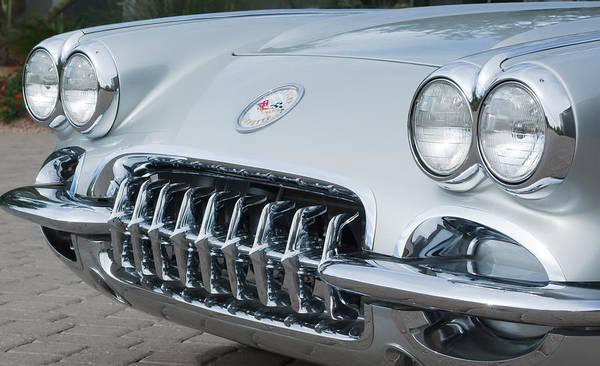 Photograph - 1960 Chevrolet Corvette Grille -0085c by Jill Reger