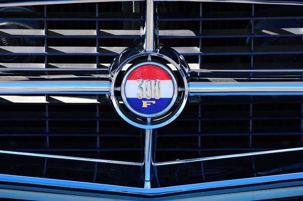 Photograph - 1960 Chrysler 300 Grille Emblem by Jill Reger