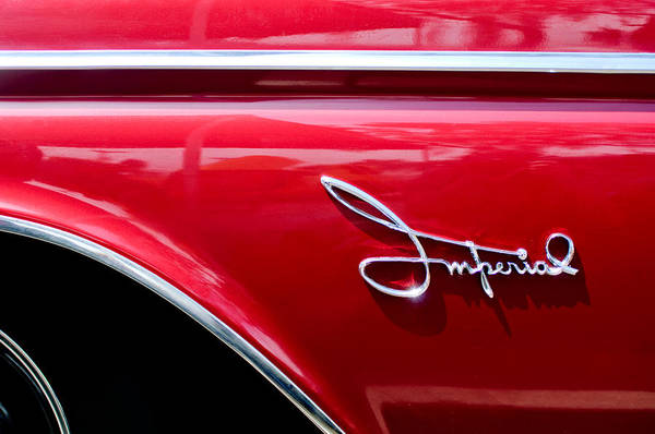 Photograph - 1960 Chrysler Imperial Emblem by Jill Reger