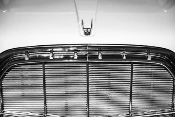 Photograph - 1960 Desoto Fireflite Two-door Hardtop Grille Emblem -0931bw by Jill Reger
