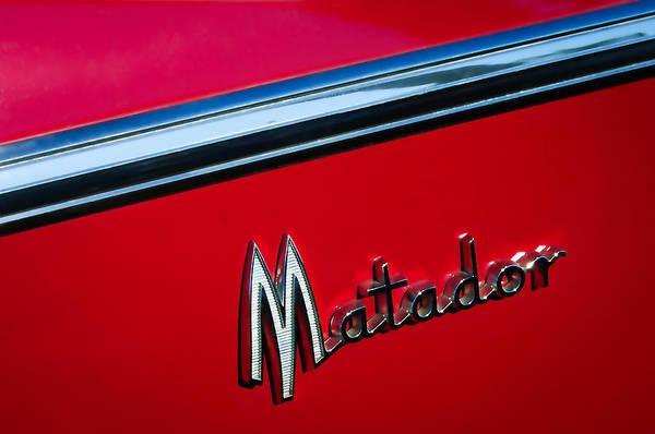 Matador Photograph - 1960 Dodge Matador Emblem by Jill Reger