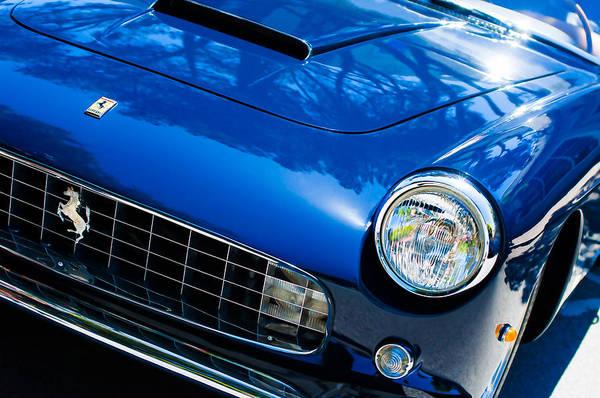 Photograph - 1960 Ferrari 250 Gtf Pinin Farina Cabriolet Series II Grille Emblem by Jill Reger