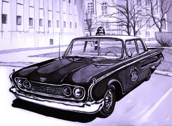 Fife Painting - 1960 Ford Fairlane Police Car by Neil Garrison
