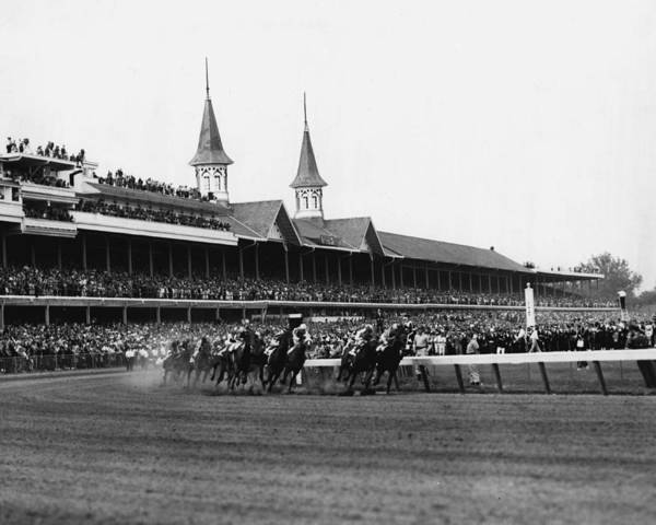 Thoroughbred Racing Wall Art - Photograph - 1960 Kentucky Derby Horse Racing Vintage by Retro Images Archive