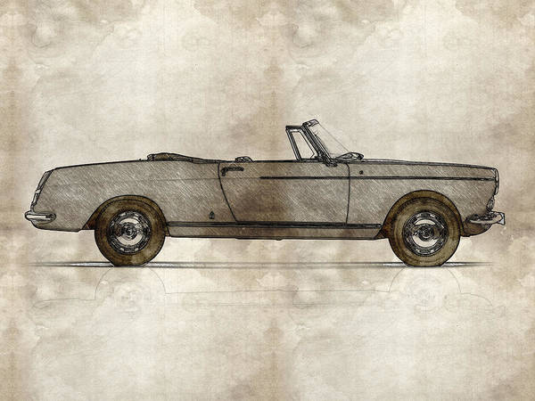 Painting - 1960 Peugeot 404 Cabriolet by Celestial Images