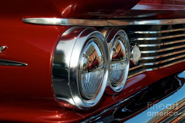 Photograph - 1960 Pontiac Belvedere Headlights by Mark Dodd