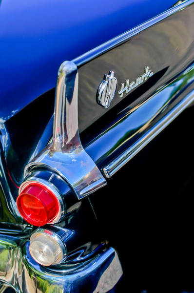 Photograph - 1960 Studebaker Hawk Coupe Taillights And Emblem by Jill Reger