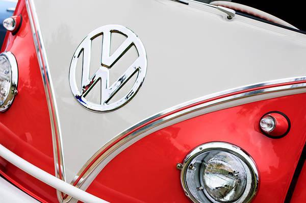 Photograph - 1960 Volkswagen Vw 23 Window Microbus Emblem by Jill Reger