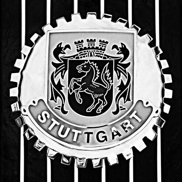 Volkswagen Photograph - 1960 Volkswagen Vw Porsche 356 Carrera Gs Gt Replica Stuttgart Emblem by Jill Reger