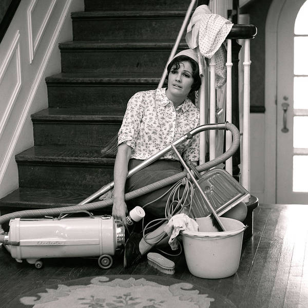 Weary Photograph - 1960s 1970s Exhausted Housewife Sitting by Vintage Images
