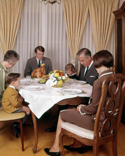 Saying Photograph - 1960s 1970s Three Generation Family by Vintage Images