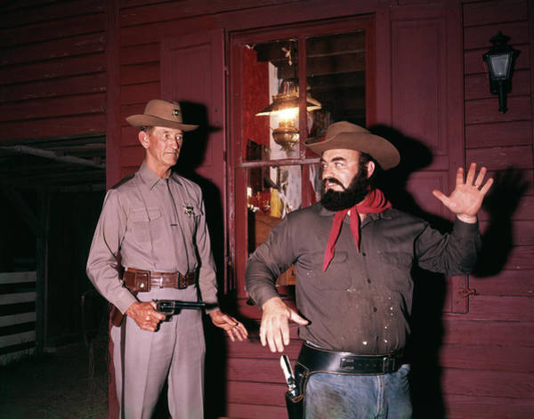 Space Gun Photograph - 1960s 1970s Western Sheriff Arrests by Vintage Images