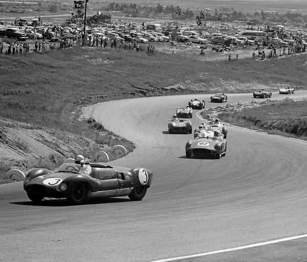 Wall Art - Photograph - 1960s Auto Race On Serpentine Section by Vintage Images