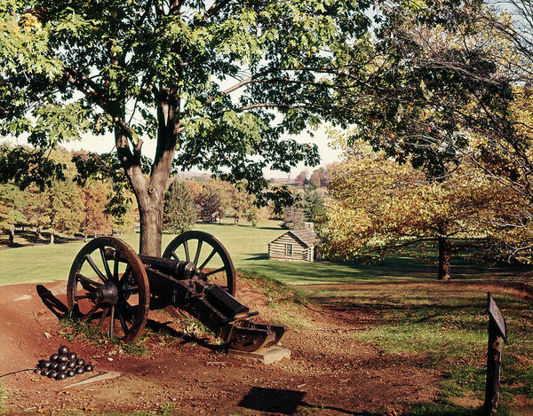 Continental Army Photograph - 1960s Autumn Scene At Valley Forge by Vintage Images