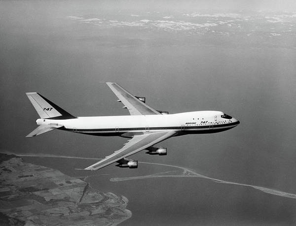 Flight Deck Photograph - 1960s Boeing 747 In Flight by Vintage Images