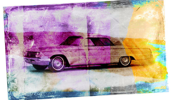 1960s Digital Art - 1960s Buick by David Ridley