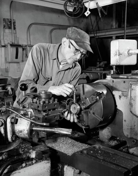 Elder Care Photograph - 1960s Close-up Of Skilled Senior Man by Vintage Images