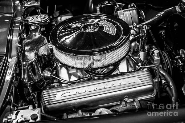 Sportscar Photograph - 1960's Corvette 327 350hp Engine by Paul Velgos