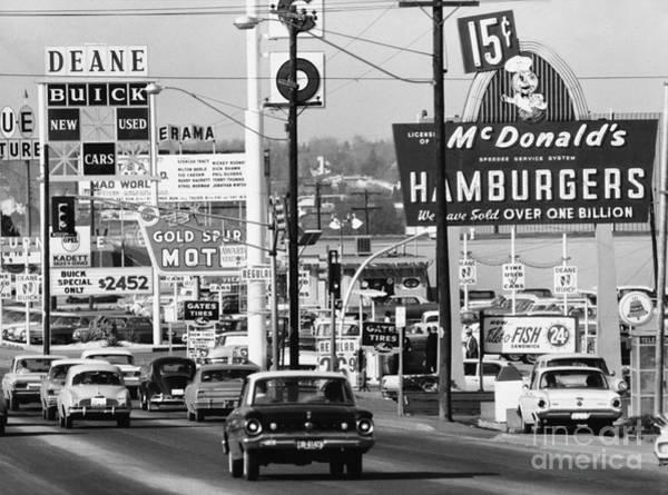 Photograph - 1960s Denver Scene by Myron Wood