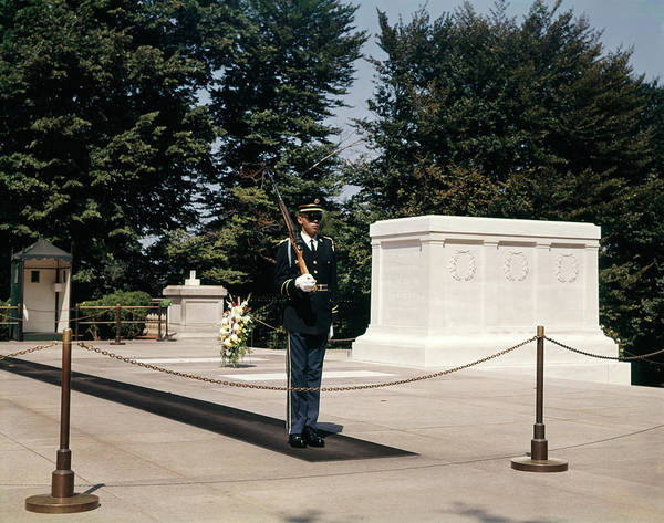 Honor Guard Photograph - 1960s Guard At Tomb Of Unknown Soldier by Vintage Images