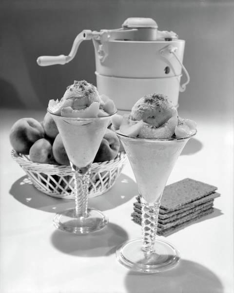 302b30acd Peaches And Cream Wall Art - Photograph - 1960s Ice Cream Machine Home Made  Peach by