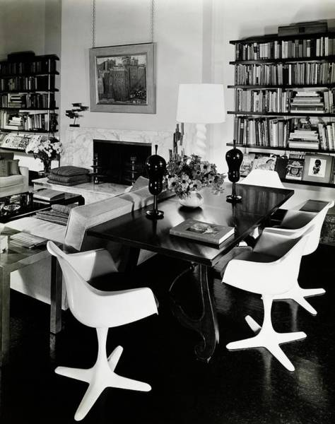 Desk Photograph - 1960's Living Room by William Grigsby