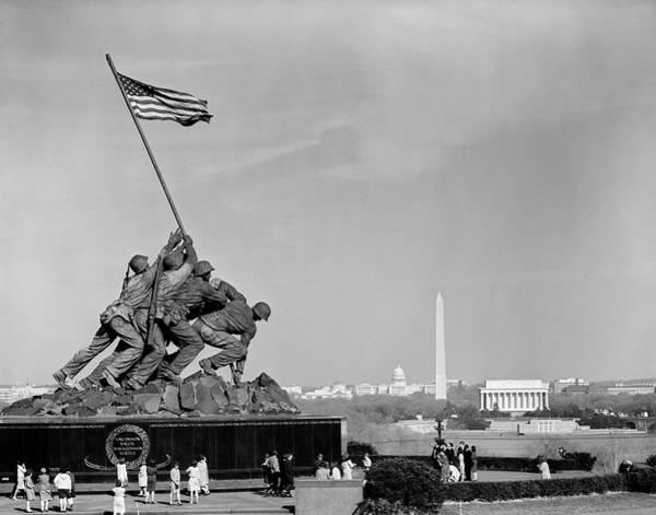 Raising Wall Art - Photograph - 1960s Marine Corps Monument by Vintage Images