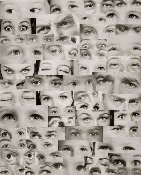 Eyeballs Painting - 1960s Montage Of Eyes by Vintage Images