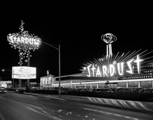 Wall Art - Photograph - 1960s Night Scene Of The Stardust by Vintage Images