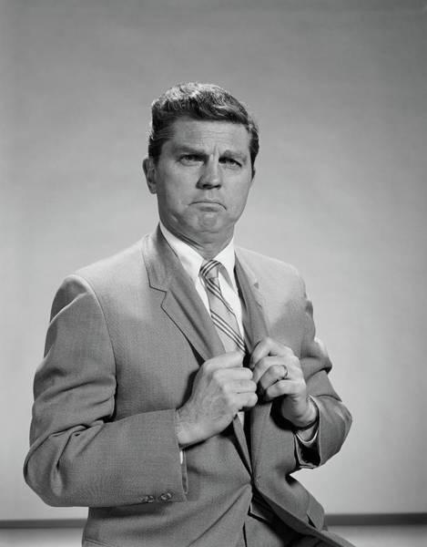 Dour Photograph - 1960s Portrait Middle Aged Man Stern by Vintage Images