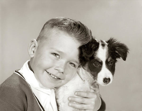 Wall Art - Photograph - 1960s Portrait Of Smiling Boy Looking by Animal Images