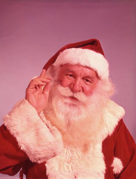 Jolly Holiday Photograph - 1960s Portrait Of Smiling Santa Claus by Vintage Images