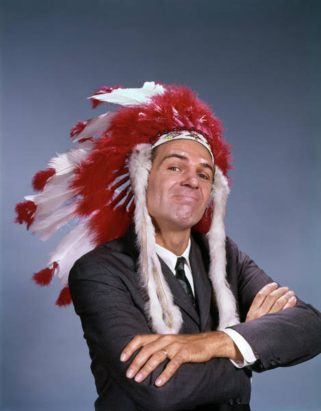 Self Confidence Photograph - 1960s Proud Man Wearing Native American by Vintage Images