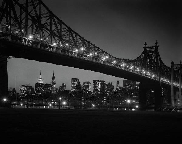 Wall Art - Photograph - 1960s Queensboro Bridge And Manhattan by Vintage Images