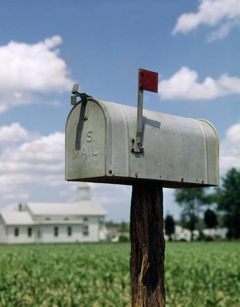 United States Postal Service Photograph - 1960s Rural Delivery Farm Mailbox by Vintage Images