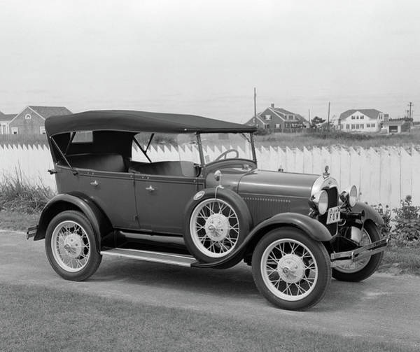 Motoring Photograph - 1960s Side View Of 1929 Model A Ford by Vintage Images